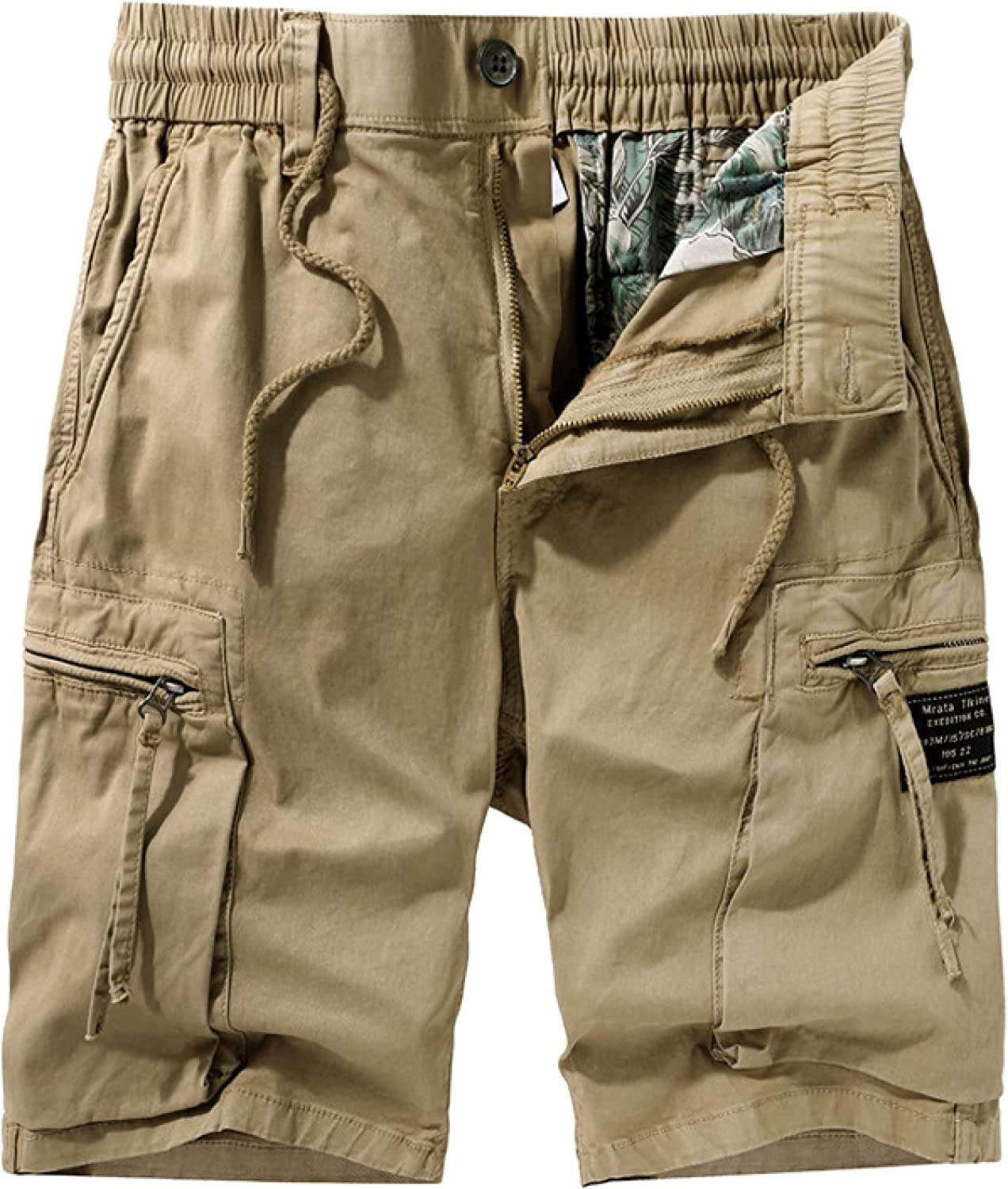 Men's Solid Color Simple Sports Shorts Loose Streetwear Trend Stitching Big