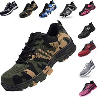 Steel Toe Shoes for Men and Women Industrial Construction Work Safety Shoes Sneakers, Outdoor Hiking Trekking Trail Composite Shoes