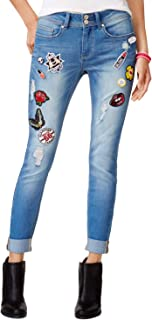 Juniors' Patch Miller Wash Ripped Skinny Jeans
