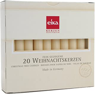Eika Christmas Tree Candle Set 20 Pieces Made in Germany - Champagne