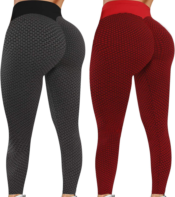 Reosse Leggings for Women - 2 Pack High Waist Yoga Pants for Women : Sports & Outdoors