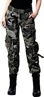 chouyatou Women's Active Loose Fit Military Multi-Pockets...