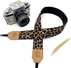 Presonalized Cheetah Camera strap,Candy Leather DSLR Camera Strap, Genuine leather camera Strap,Gift for Her