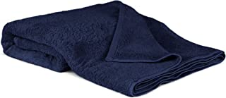 100% Luxury Turkish Cotton, Eco-Friendly, Soft and Super Absorbent Oversized 40'' x 80'' Bath Sheet (Navy, 1 Piece)