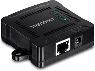 TRENDnet Gigabit PoE Splitter, Wandmontierbar, Justierbare Ausgangsleistung, PoE betrieben, TPE 104GS