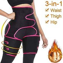Zodight High Waist Trainer Thigh Trimmer, 3 in 1 Body Shaper Weight Loss Butt Lifter, Workout Fitness Slimming Sweat Band Waist Support for Women
