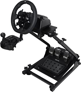 Marada Racing Wheel Stand Height Adjustable Steering Wheel Stand Compatible with Logitech G25, G27, G29, G920 Gaming Cockpit (Wheel and Pedals Not Included) (G920)