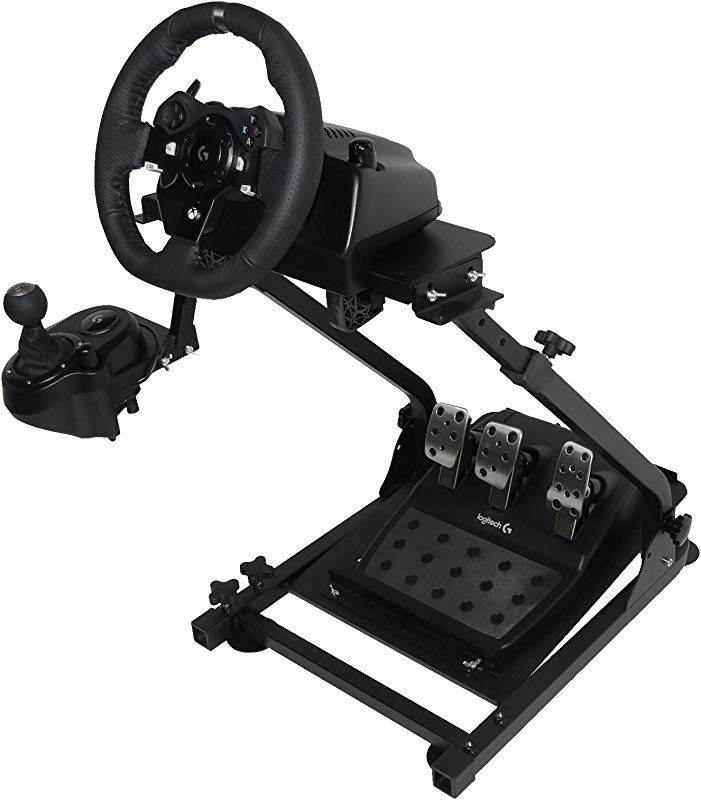 Marada Racing Wheel Stand Height Adjustable Steering Wheel Stand Compatible With Logitech G25 G27 G29 G920 Gaming Cockpit Wheel And Pedals Not Included G920