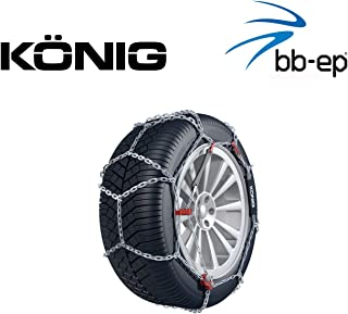 Schneekette THULE CB 12 PKW für die Reifengröße 245/40 R17 Preis Leistungs Sieger (1 Satz – 2 Stück Schneeketten)