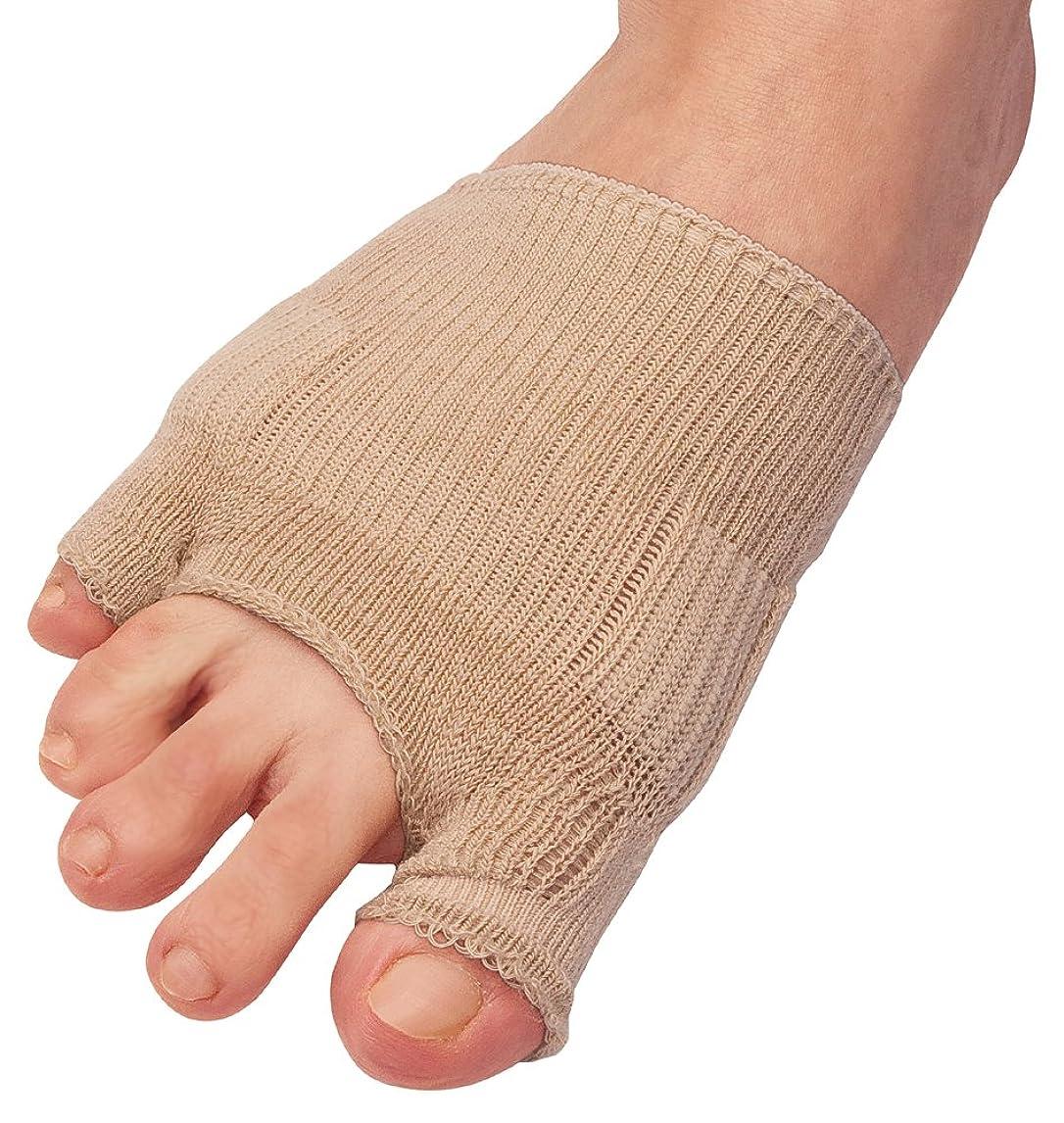 着飾るバイバイブラインド綿混サラリ洗える外反母趾パッド(1枚入り) ベージュ