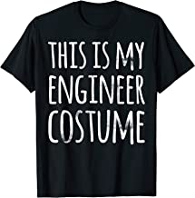 Funny Easy Lazy Halloween THIS IS MY ENGINEER COSTUME T-Shirt