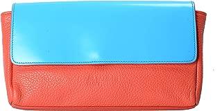 100% Leather Multi-Color Women's Clutch Bag