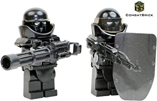 CombatBrick Heavily Armored Blocking Force Troopers - 2 Men Pack - Custom Army Builder Military Minifigures