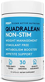 RSP Nutrition QuadraLean - Stimulant Free Weight Management, Metabolism Booster, Energy & Appetite Support - CLA, L-Carnit...