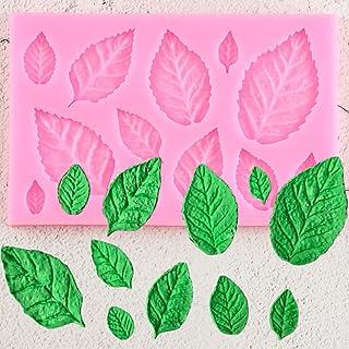 XRZH Rose Feuille Silicone Moule Feuilles Cupcake Topper Fondant Moules Bricolage Gâteau Décoration Outils Chocolat Moule