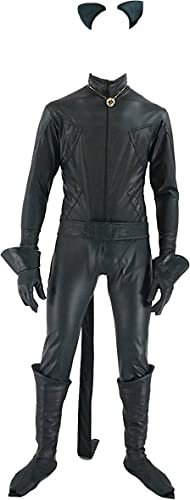 Simil Chat schwarz Ladybug Herren-Kostüm Cosplay Simil Miraculous Chat schwarz Kostüm CHAN08, SchwarzXL