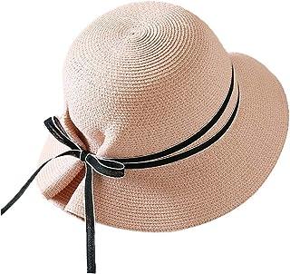 Jian E- Sombrero - Visera de Verano para Mujer Visera al Aire Libre Protección UV Sombrero para el Sol Sombrero de Paja Plegable Fácil de Llevar (5 Colores) /-