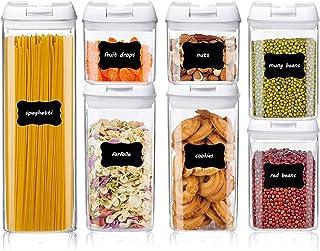 Contenants hermétiques pour le stockage des aliments - Bocaux de rangement 5/7 pièces avec couvercles hermétiques, solutio...