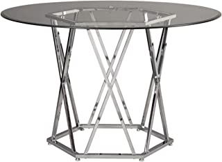 Best silver glass dining table Reviews