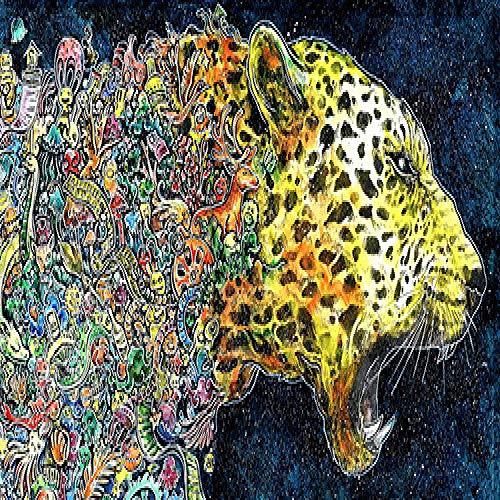 RTCKF Quadro acquarello Leopardo con Poster Nordico scandinavo Dipinto Animale Decorazione Soggiorno (Senza Cornice) A5 50x100CM