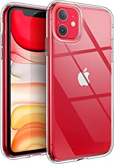 YOUMAKER Stylish Crystal Clear Case for iPhone 11, Anti-Scratch Shock Absorption Slim Fit Drop Protection Premium Bumper Cover Case for iPhone 11 6.1 inch (2019) - Clear