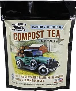 Compost Tea Easy-to-Brew Kit, 2 Tea Brew Pouches & 2 Microbe Food Packs