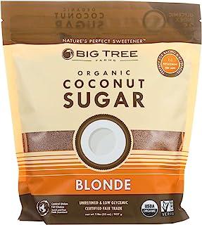 Big Tree Farms Organic Blonde Coconut Sugar, Vegan, Gluten Free, Paleo, Certified Kosher, Cane Sugar Alternative, Substitu...