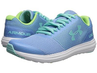 Under Armour Kids UA GGS Surge Running (Big Kid) (Carolina Blue/Zap Green/Mermaid) Girls Shoes