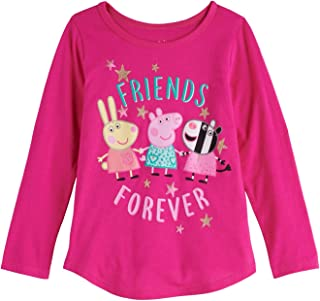 Jumping Beans Toddler Girls 2T-5T Peppa Besties Forver Graphic Tee