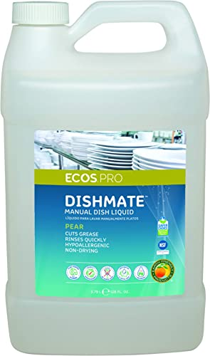 Earth Friendly Products Proline PL9720/04 Dishmate Pear Ultra-Concentrated Liquid Dishwashing Cleaner, 1 gallon Bottl...