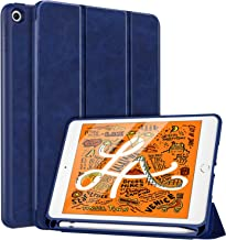 MoKo Case Fit New iPad Mini 5 2019 (5th Generation 7.9 inch) with Apple Pencil Holder - Slim Lightweight Smart Shell Stand Cover Case with Auto Wake/Sleep for iPad Mini 2019 - Indigo