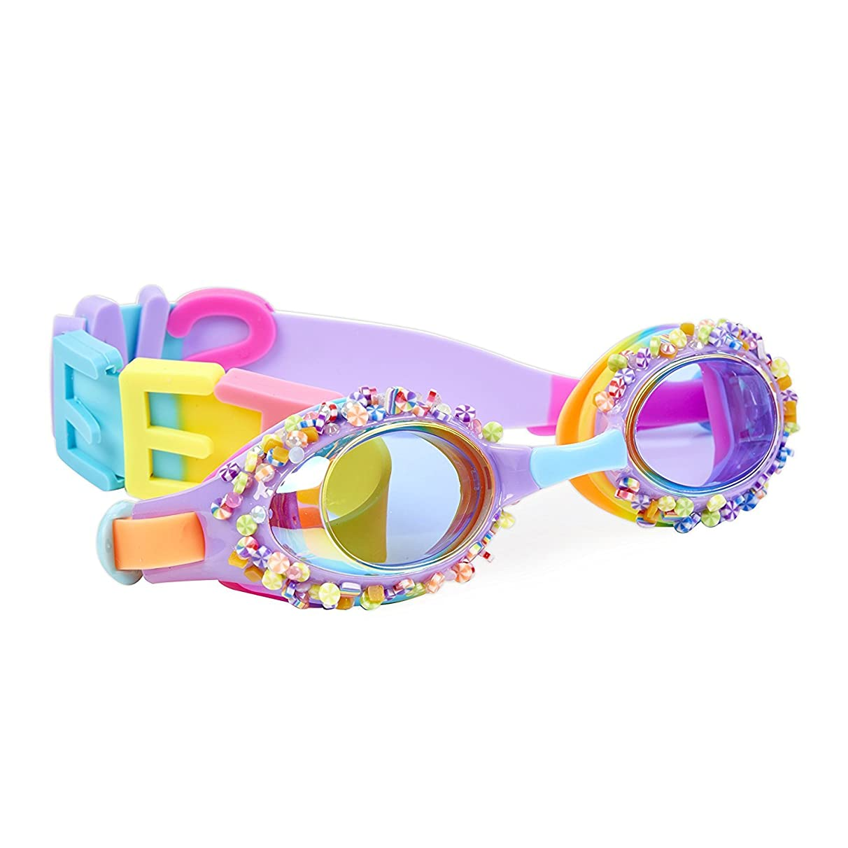 "Bling2o Goggles Kids Swim Goggles - ""Penny Candy"" Kids Swimming Goggles with Anti Fog UV Protection and Custom Kid Goggles Hard Case"