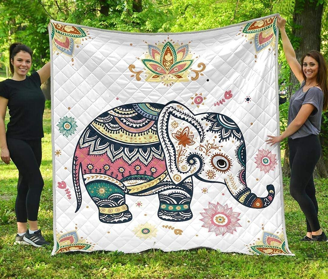 PITTI Mandala Elephant Clearance SALE! Limited time! Quilt - Animal Wife latest Dad My H to Mom
