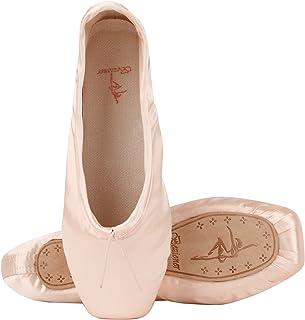 96b96f754abe2 Rose et Red Pointe Shoes Girls Ballet Flats Pantoufle avec Rubans et Talons