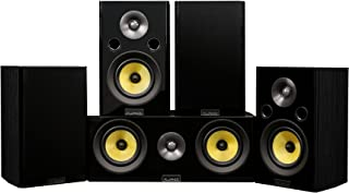 Fluance Signature HiFi Compact Surround Sound Home Theater 5.0 Channel Speaker System Including 2-Way Bookshelf, Center Ch...