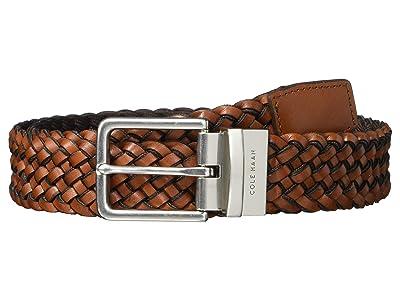 Cole Haan 35 mm Reversible Braid Leather to Nylon Web (Woodbury/Java) Men