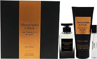 Abercrombie & Fitch Authentic Night For Men Eau De Toilette, 100 ml +15 ml +200 ml Body Wash Set