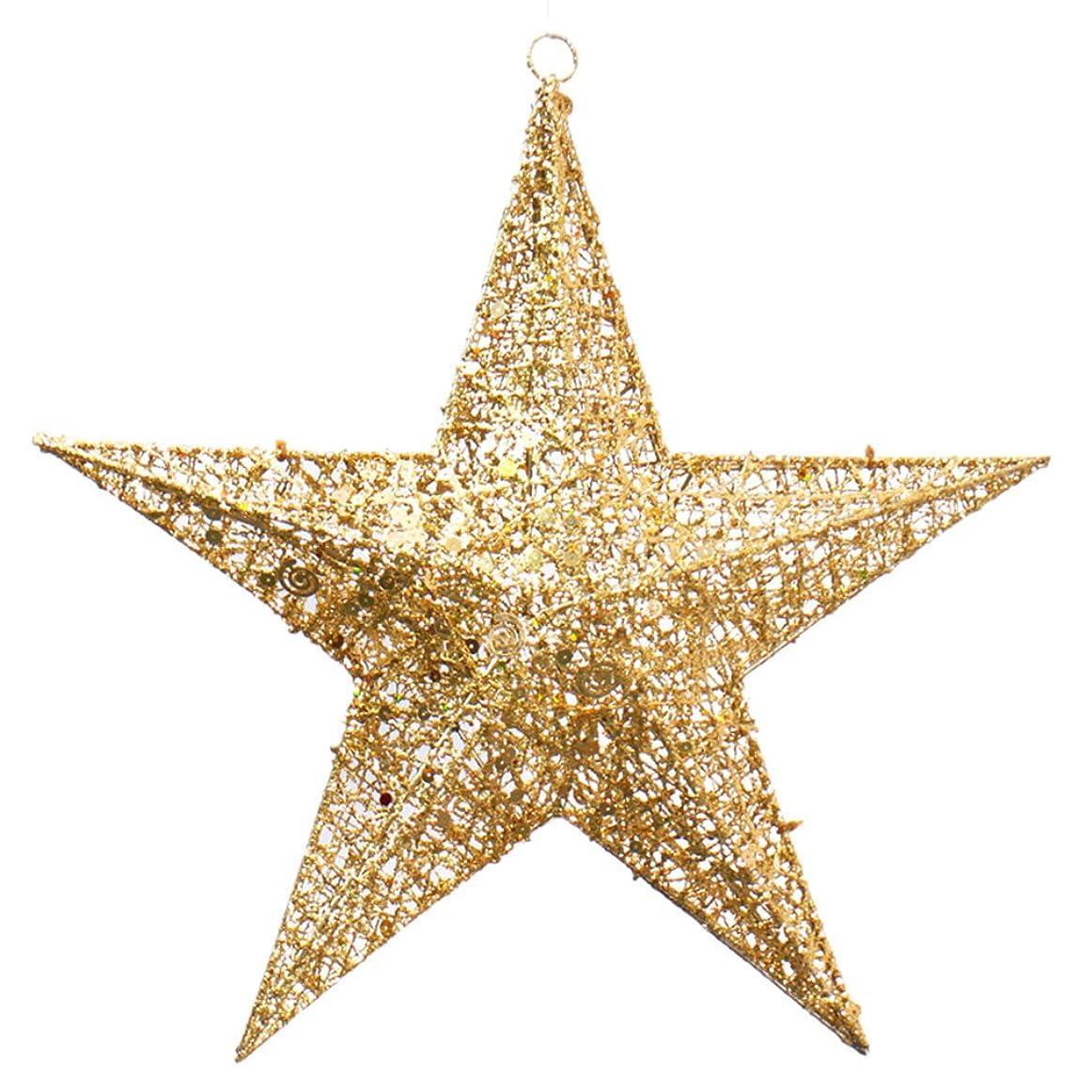メーター乳白光の(ラボーグ)La vogue クリスマス 飾り オーナメント 吊り下げ 立体星型 スター クリスマスツリー パーティー 結婚式 イベント 飾り付け 装飾用 ゴールド 20cm