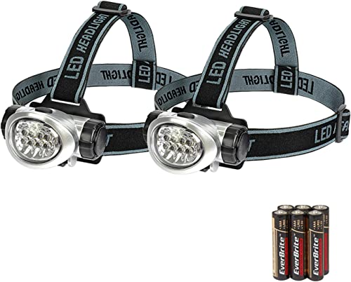 popular EverBrite 2-Pack wholesale Headlamp Flashlight for online sale Running, Camping, Reading, Fishing, Hunting, Walking, Jogging Head Light Durable, Lightweight Batteries Included online sale