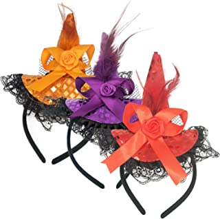 3pcs Halloween Witch Hat Headband - Gift Girl Kids Party Game Favor Cosplay