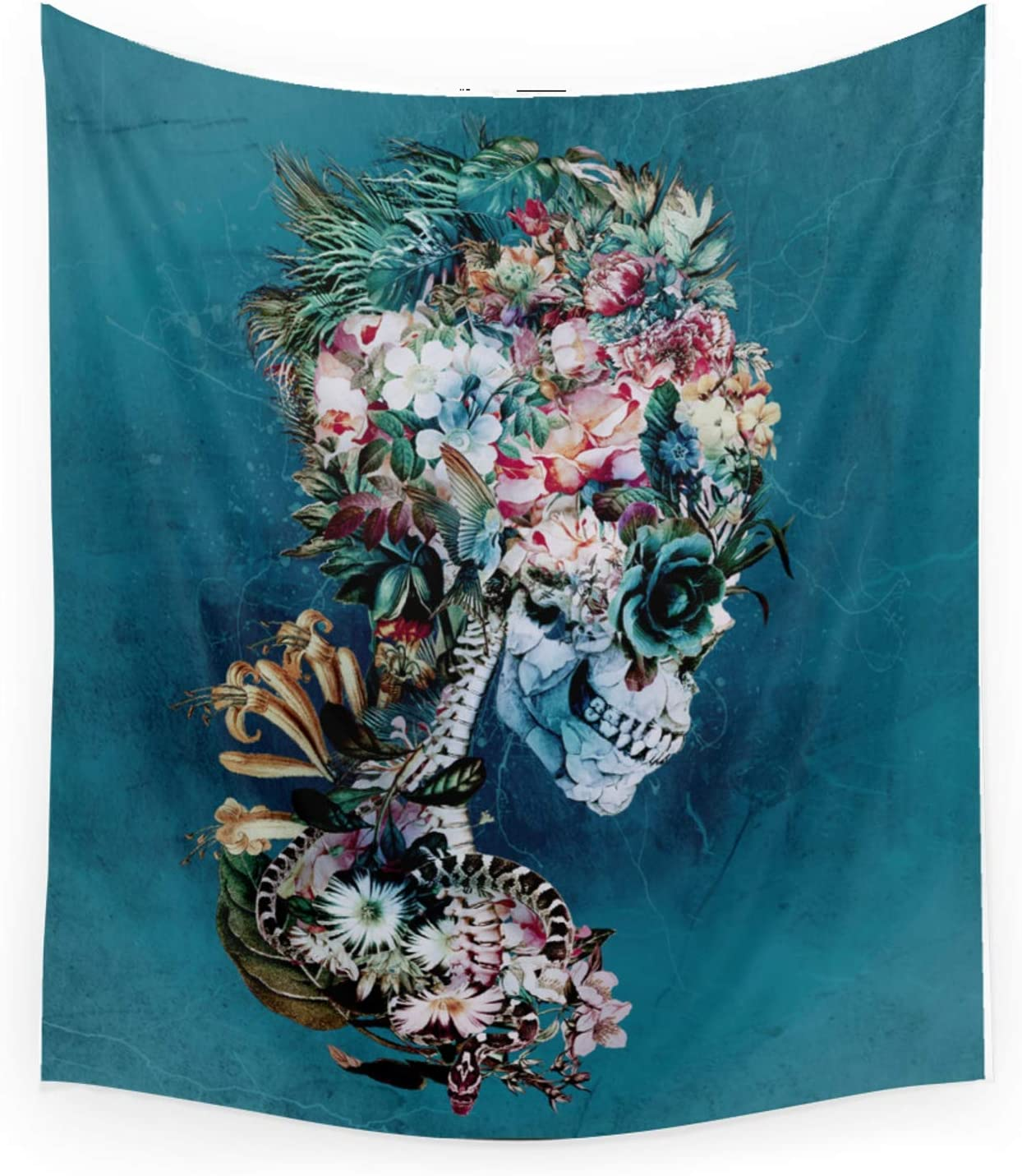 Society6 Floral Skull Rp by Cash special price Rizapeker on - Tapestry Hanging Wall Genuine Free Shipping