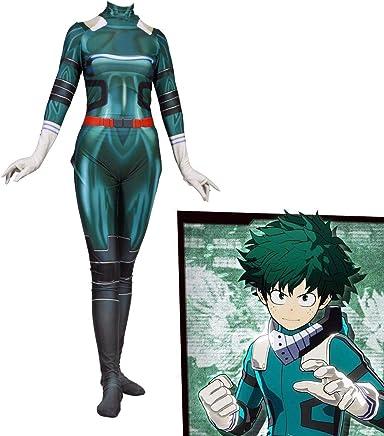 Molagogo Boku no Hero Academia Deku Izuku Midoriya Costume Zentai Suit Bodysuit Cospaly