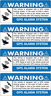GPS 4 pk Anti Theft STICKER Vehicle Security Alarm Decal Car Truck Vinyl FS002