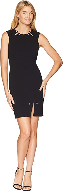Pearl Bar Slit Bodycon Dress