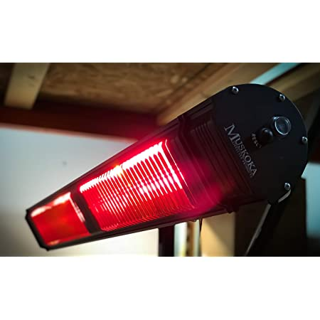 Commercial SunWave Ultra Quartz Infrared heat 3000W 220-240V with Remote Patio Heater (Black)