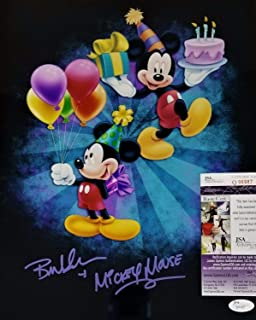 Happy Birthday Bret Iwan Mickey Mouse Autographed Signed Memorabilia 11X14 Photo Autograph JSA COA