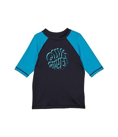 Quiksilver Kids Bubble Trouble Short Sleeve Rashguard (Toddler/Little Kids) Boy