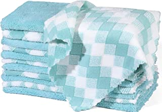 Kitchen Dishcloths - 12 Pack Premium Dishcloths, Reusable Microfiber Dish Cloth, Lint-Free, No Odor, Super Absorbent Coral...
