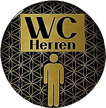BIKE-label 900113VA Gold 3D sticker deurbord WC heren informatiebord 70 mm
