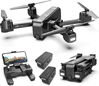 Holy Stone HS270 GPS 2.7K Drone with FHD FPV Camera Live Video for Adults, Portable Selfie Quadcopter with 2 Batteries for...